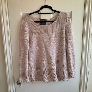 Chunky Knit Anthropologie Sweater Light Pink